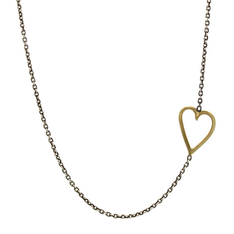 Exaggerated Sideways Heart Necklace
