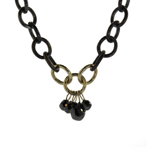 Black Diamond Dangle Necklace