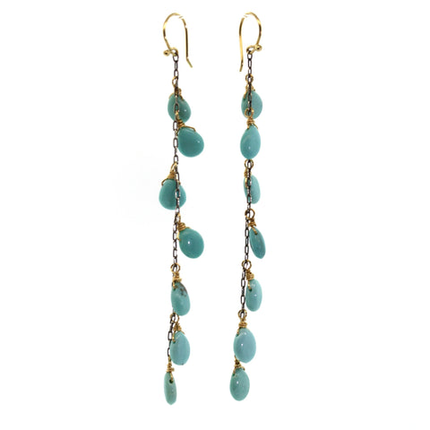7 Drop Turquoise Earrings