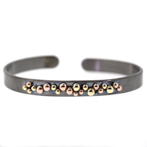Yellow & Rose Gold Cluster Cuff