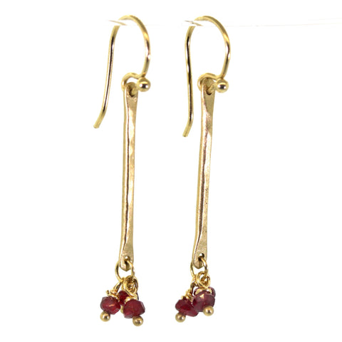Ruby Dangle Earrings