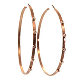 Custom Rose Gold & Diamond Hoops - Houston, Texas