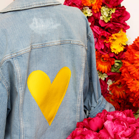 Yellow Heart Jean Jacket