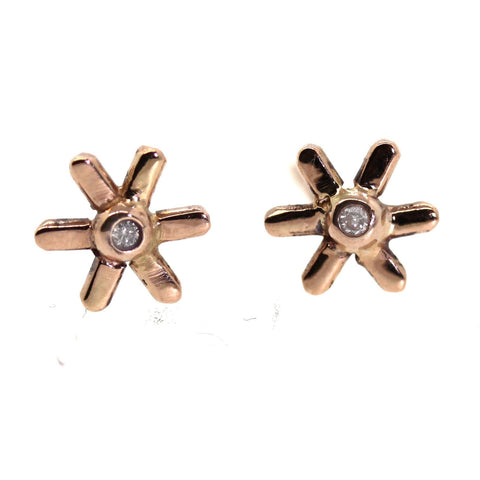 Gold Flower Studs -Rebecca Lankford Designs - Houston, TX