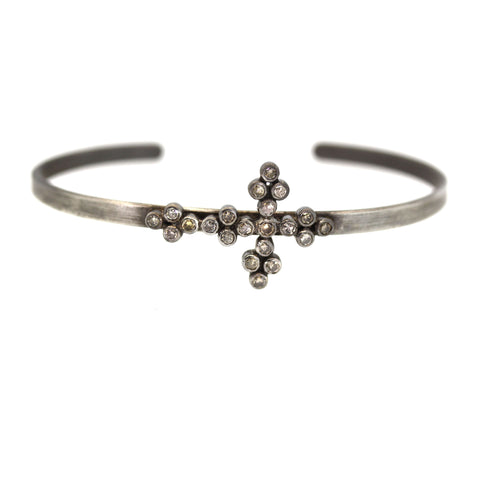 Champagne Diamond Cross Cuff