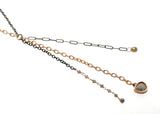 Rose Gold / Diamond Mixed Chain Necklace