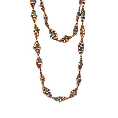 Woven Pyrite & Turquoise Necklace