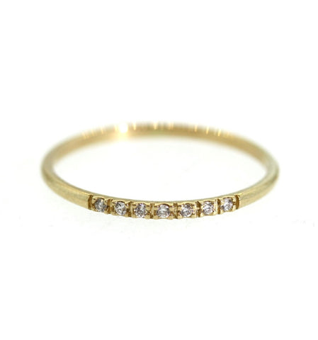 7 Diamond Gold Ring