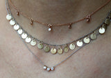 Gold Disc Necklace - Rebecca Lankford Designs - Houston, TX