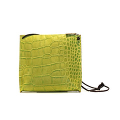 Embossed Gator Strappy Pouch