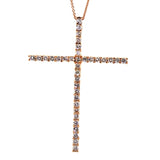 Large Rose Diamond Cross Necklace - Rebecca Lankford Designs - Houston, TX