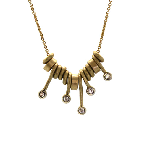 Charming Gold Stick Necklace