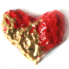 Red & Gold Large Heart
