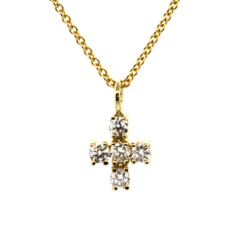 Classic Diamond Cross Necklace