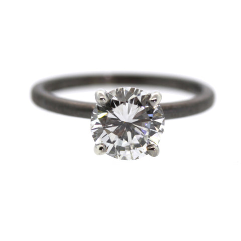 Rhodium Plated Engagement Ring