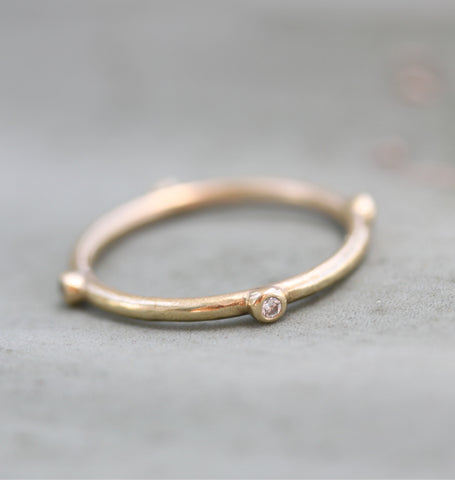 4 Bezel Diamond Ring