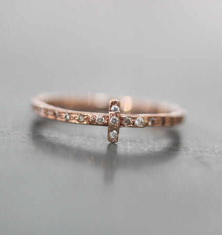 Diamond Cross Eternity Ring