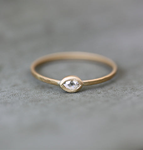 Marquise Rosecut Diamond Ring