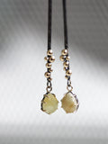 Yellow Sapphire Stick Earrings