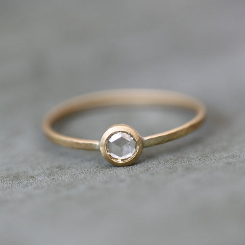 Round Rosecut Diamond Ring