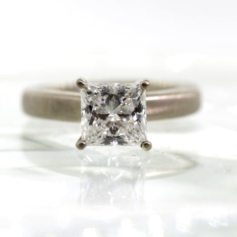Thick Solitaire Diamond Ring