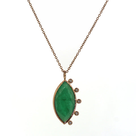 Marquise Emerald Necklace