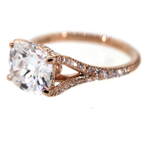 rose gold engagement ring, engagement ring, diamond ring, rebecca lankford designs