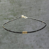 Black Diamond & Gold Ring Bracelet