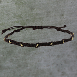 Gold Ring Macrame Bracelet