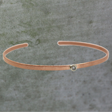 Solitaire Diamond Rose Gold Cuff
