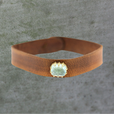 Icy Aquamarine Leather Bracelet