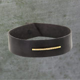 Gold Bar Leather Bracelet