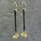 Yellow Raw Diamond Earrings