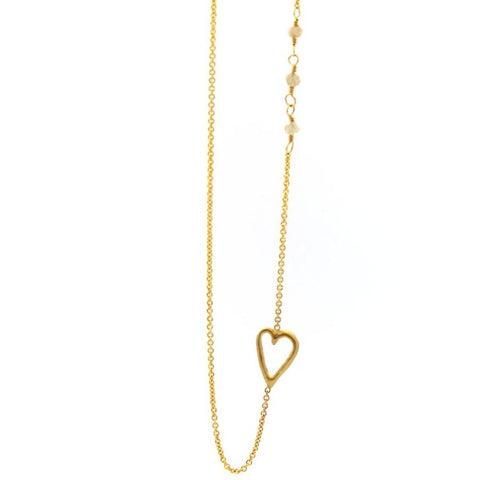 Raw Diamond Love Necklace