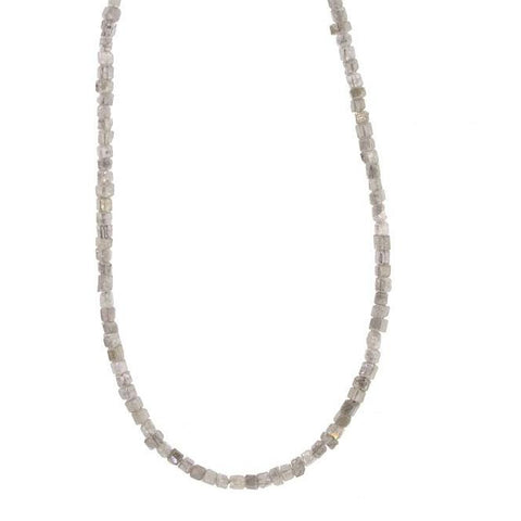 Cubed Raw Diamond Choker Necklace