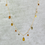 Raw Diamond Briolette Necklace
