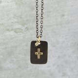 Diamond Cross ID Necklace