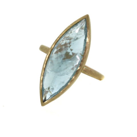 Marquise Aquamarine Ring - Rebecca Lankford Designs - Houston, TX