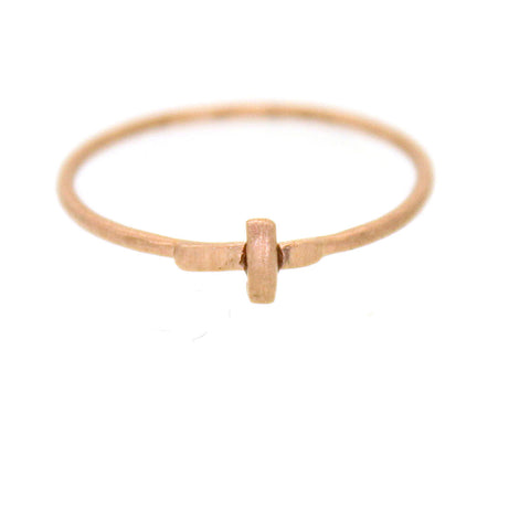 Rose Gold Cross Ring - Rebecca Lankford Designs