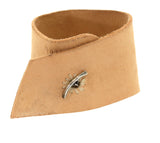 Natural Leather Baguette Diamond Cuff Bracelet - Rebecca Lankford Designs - Houston, TX