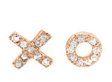 """XO"" Rose Gold Stud Earrings - Rebecca Lankford Designs"