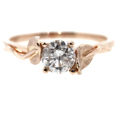 rose gold engagement ring, diamond ring, wedding ring, modern bride, rebecca lankford designs