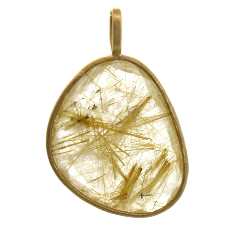 Rutilated Quartz Pendant - Rebecca Lankford Designs - Houston, TX