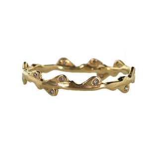 Diamond Branch Ring - Gold Branch Ring - Rebecca Lankford Designs - 1