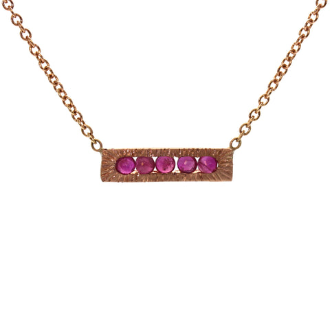Ruby Brick Necklace