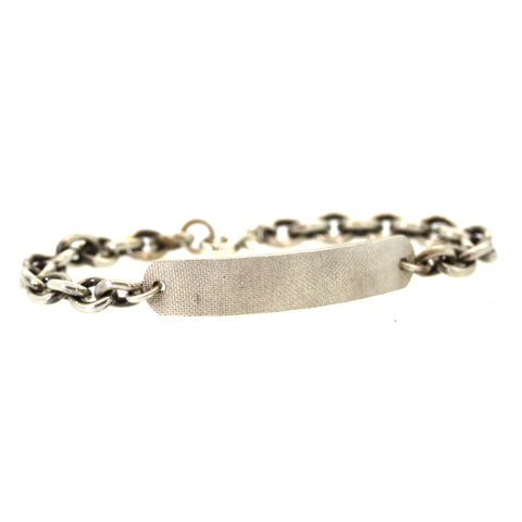 Chunky Silver Bar Bracelet - men's Jewelry - Rebecca Lankford Designs