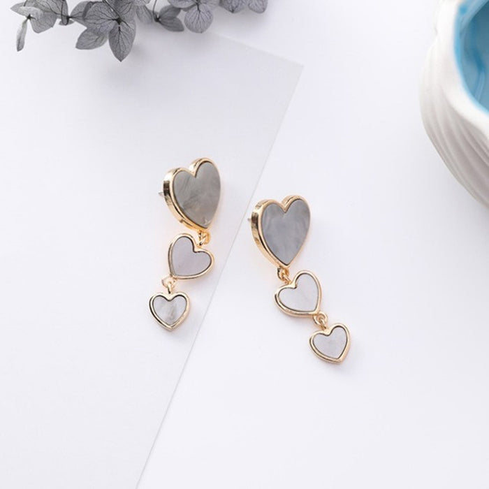 (Pre-Order) Korean Grey Temperament Geometric Earrings 11
