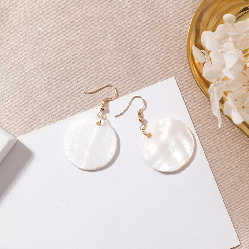 (Pre-Order) Geometric Shell Drop Earrings 12