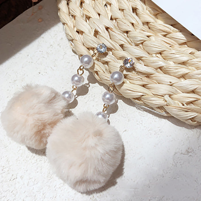 (Pre-Order) Beige Asymmetrical Earrings 15