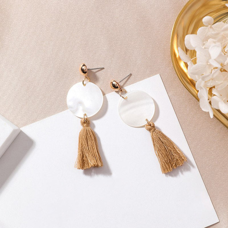 (Pre-Order) Geometric Shell Drop Earrings 17